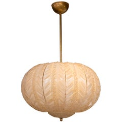 Murano Blown Globe Shaped Ceiling Fixture/Paor Available