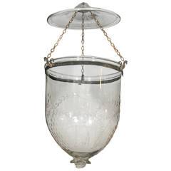 Antique Glass Bell Lantern