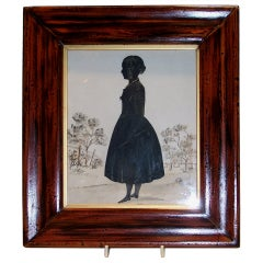 A Cut silhouette of a Young Girl