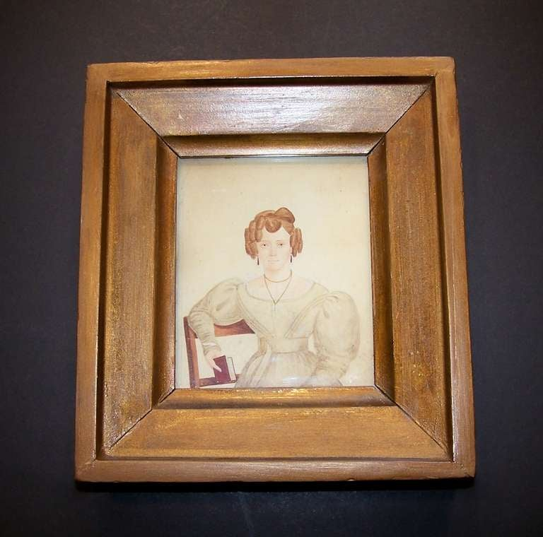 We are pleased to offer this portrait with historical value. This portrait of Hanah Tichbon has an inscription which reads in part