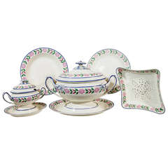 A Set of Dishes: An Extensive Wedgwood Creamware Dinner Service