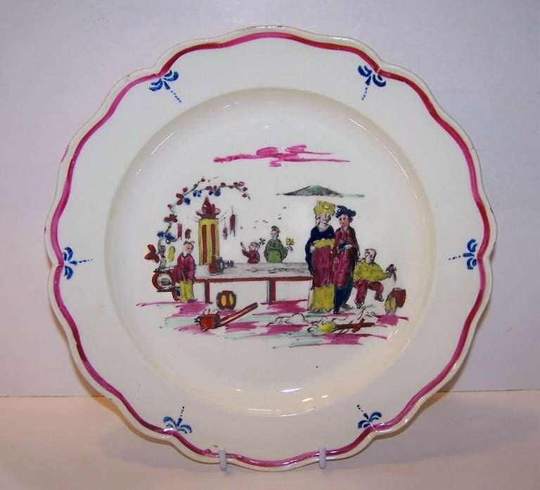 Pair of 18th Century Creamware Dishes with Scenes 3