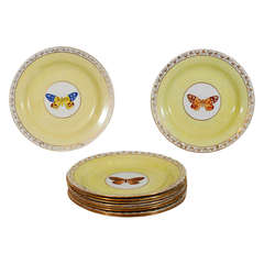 Set of Ten Wedgwood Dishes with Butterflies