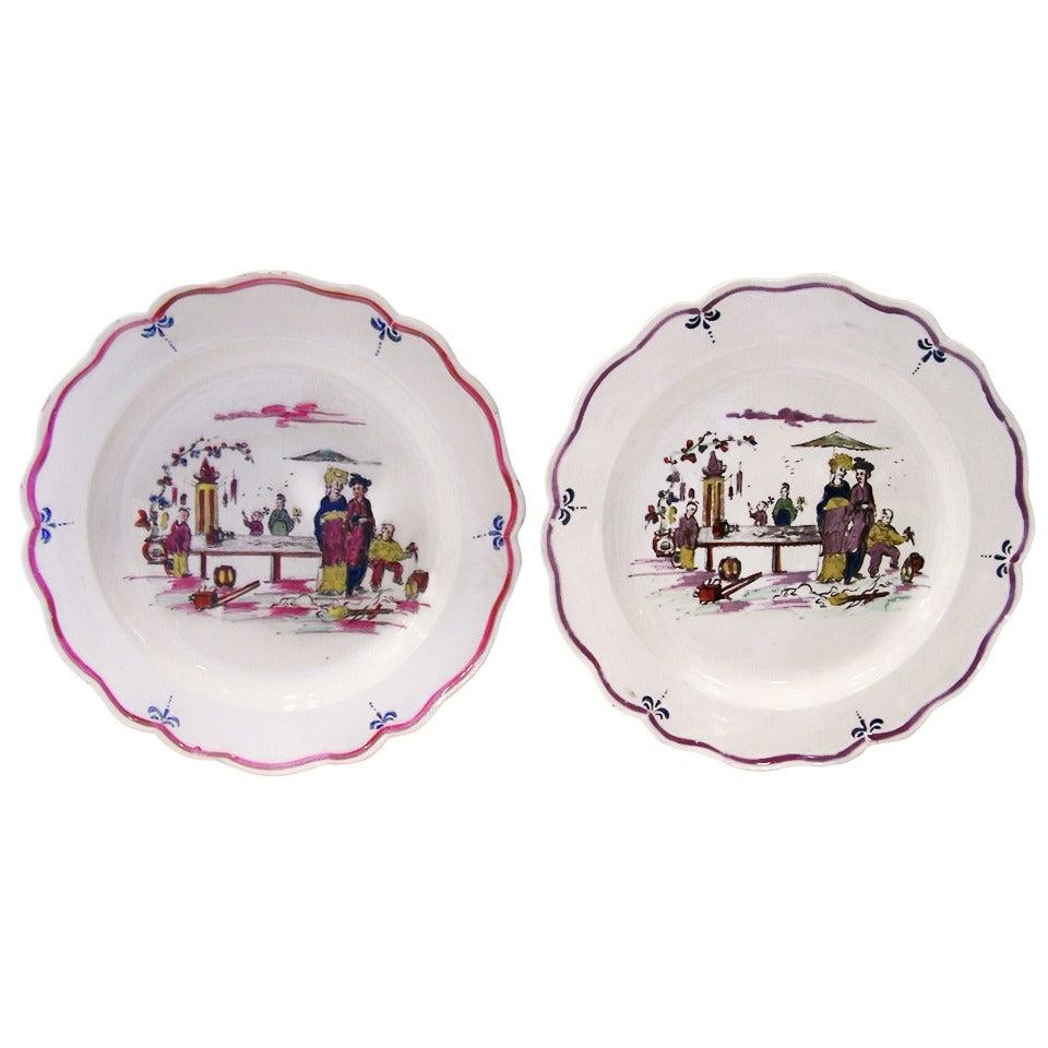 Pair Creamware Dishes 18th Century English Made circa 1770