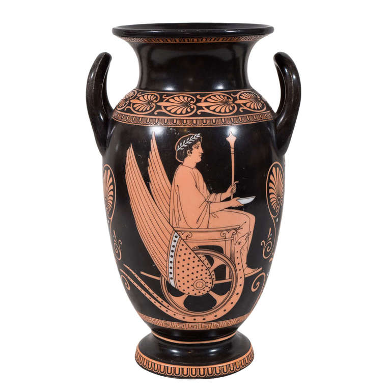 Greek Revival Red Figure Vase At 1stdibs