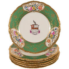 Set of a Dozen Chamberlain's Worcester Armorial Dishes