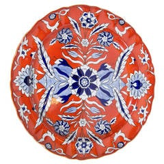 Mason's Ironstone Charger Painted Red, White, and Blue