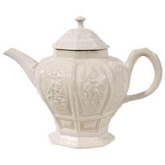 Early Staffordshire Pottery Saltglaze Tea Pot