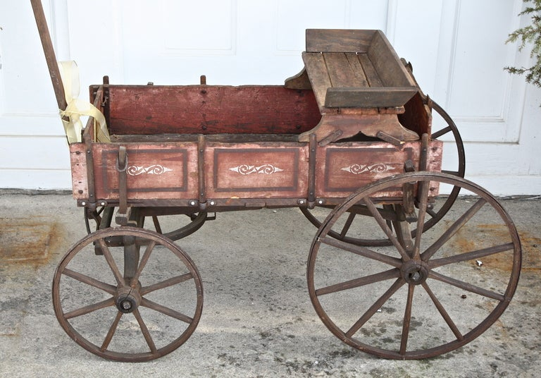 Pennsylvanian Child S Goat Wagon Bar Cart At 1stdibs
