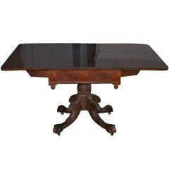 New York Classical Drop-leaf Pedestal Table