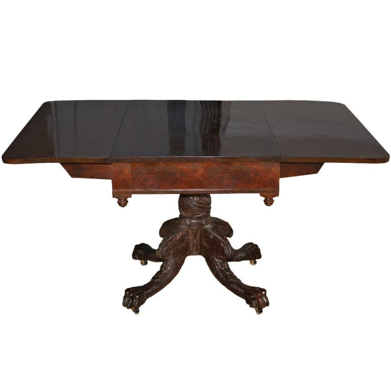 New York Classical Drop-leaf Pedestal Table For Sale