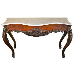 Anglo-Indian Marble Topped Console