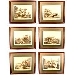 Bachelor's Hall Fox Hunting Prints - Complete Set of Six