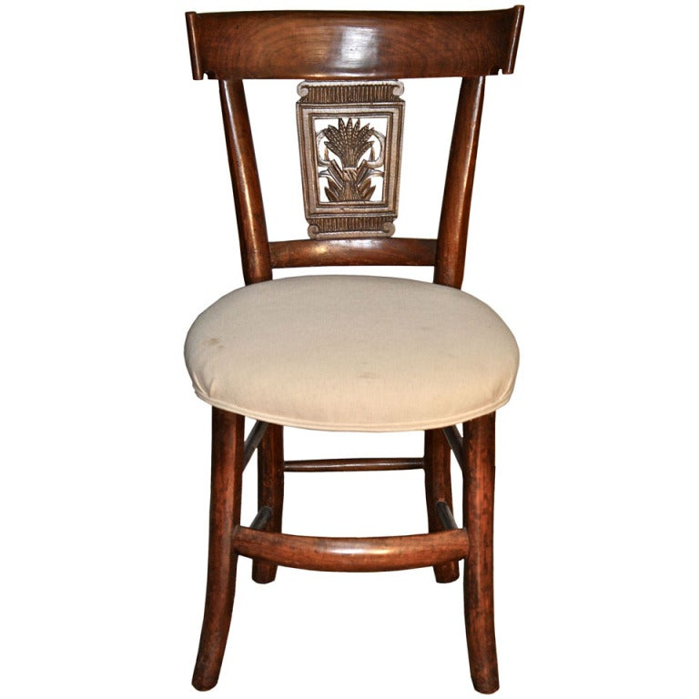 Italian Neoclassical Frumento Side Chair
