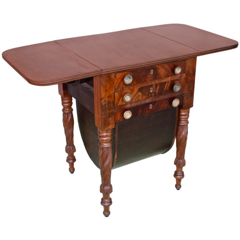 Boston Classical Drop-Leaf Sewing Table 1