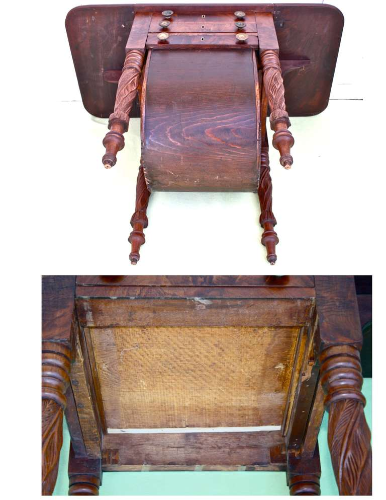 Boston Classical Drop-Leaf Sewing Table 10