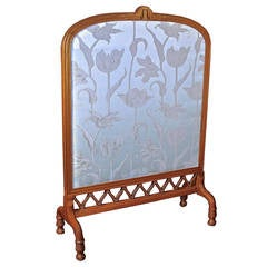 Art Nouveau Fireplace Screen - Shop of Eugene Gaillard