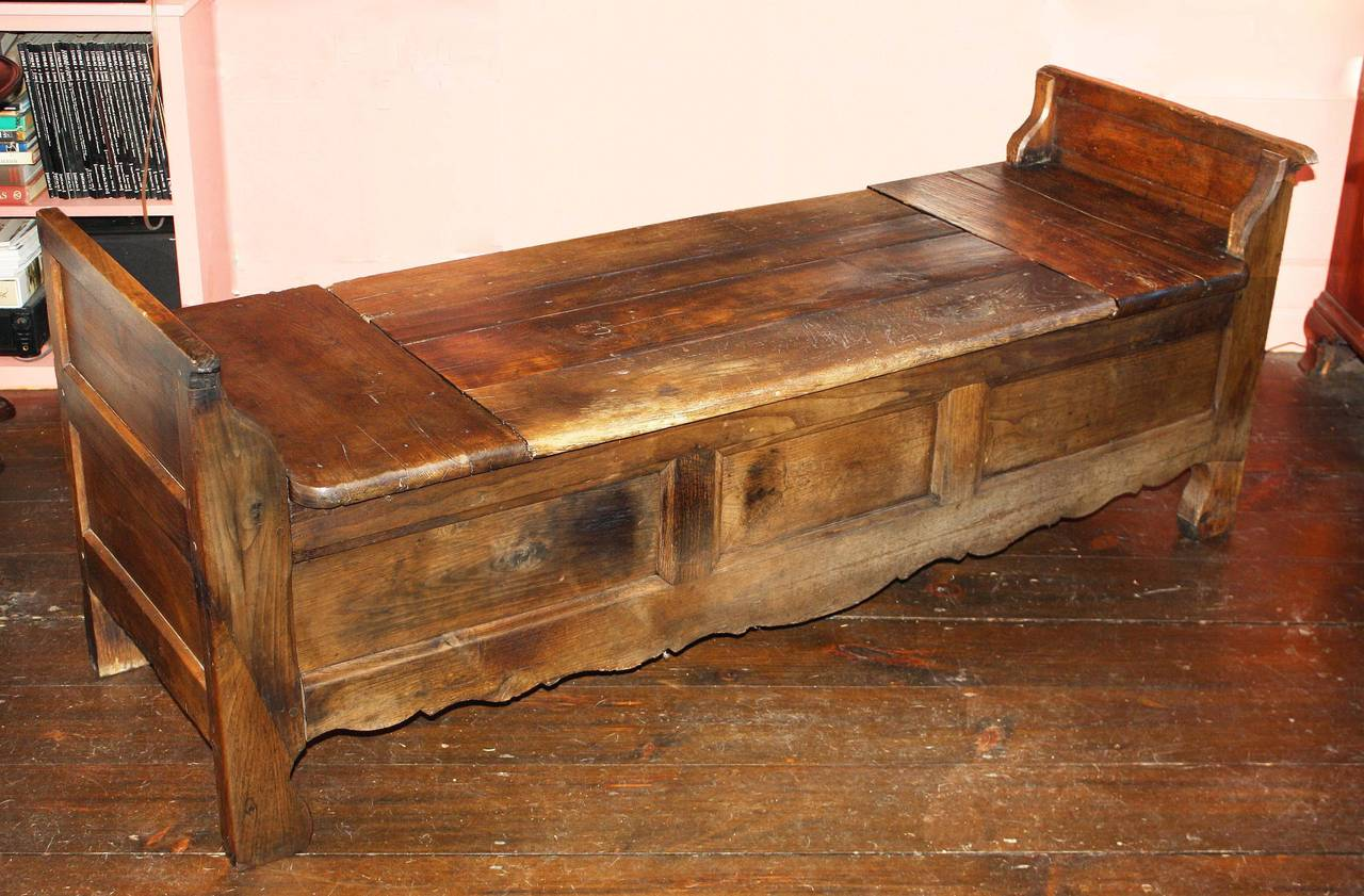 French Oak Coffered Bench For Sale 2