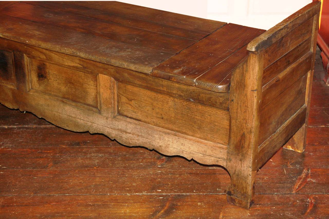 French Oak Coffered Bench For Sale 1