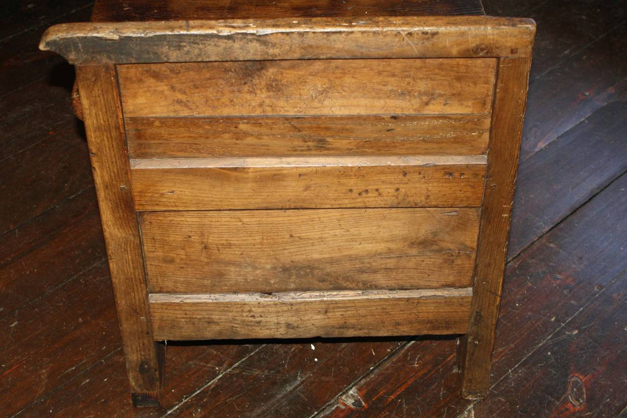 French Oak Coffered Bench For Sale 3