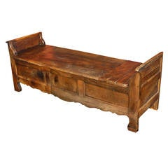 French Oak Coffered Bench