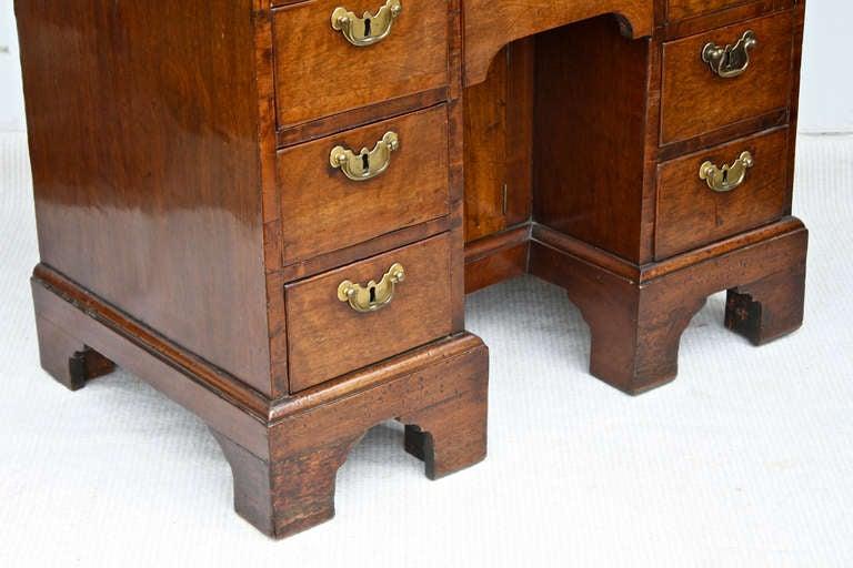 George II Walnut Kneehole Desk 9