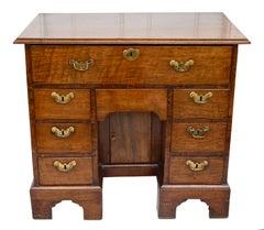 George II Walnut Kneehole Desk