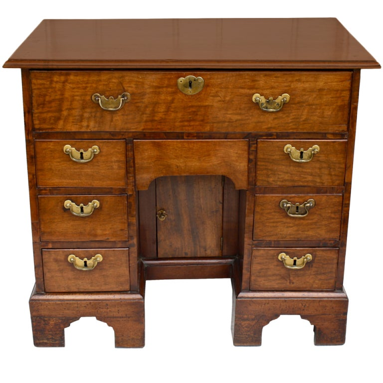 George II Walnut Kneehole Desk