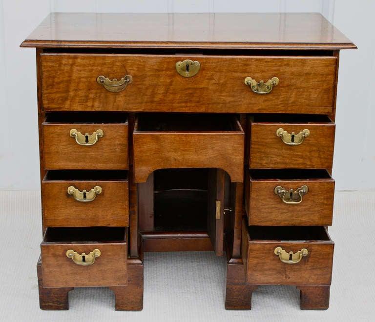 George II Walnut Kneehole Desk 5