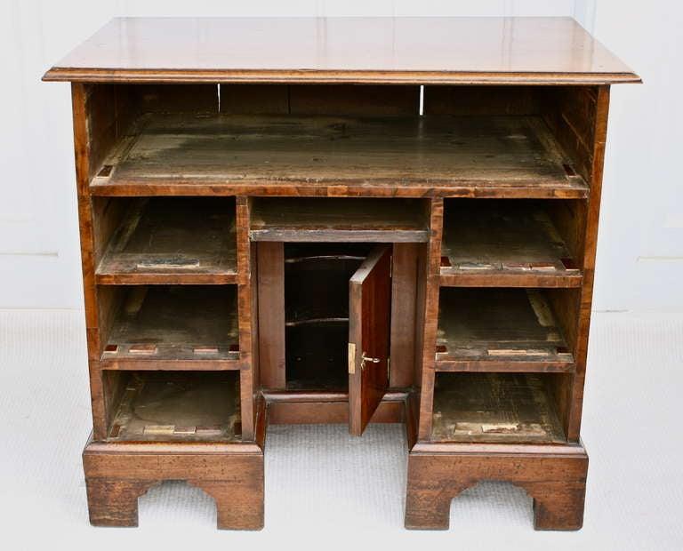George II Walnut Kneehole Desk 6