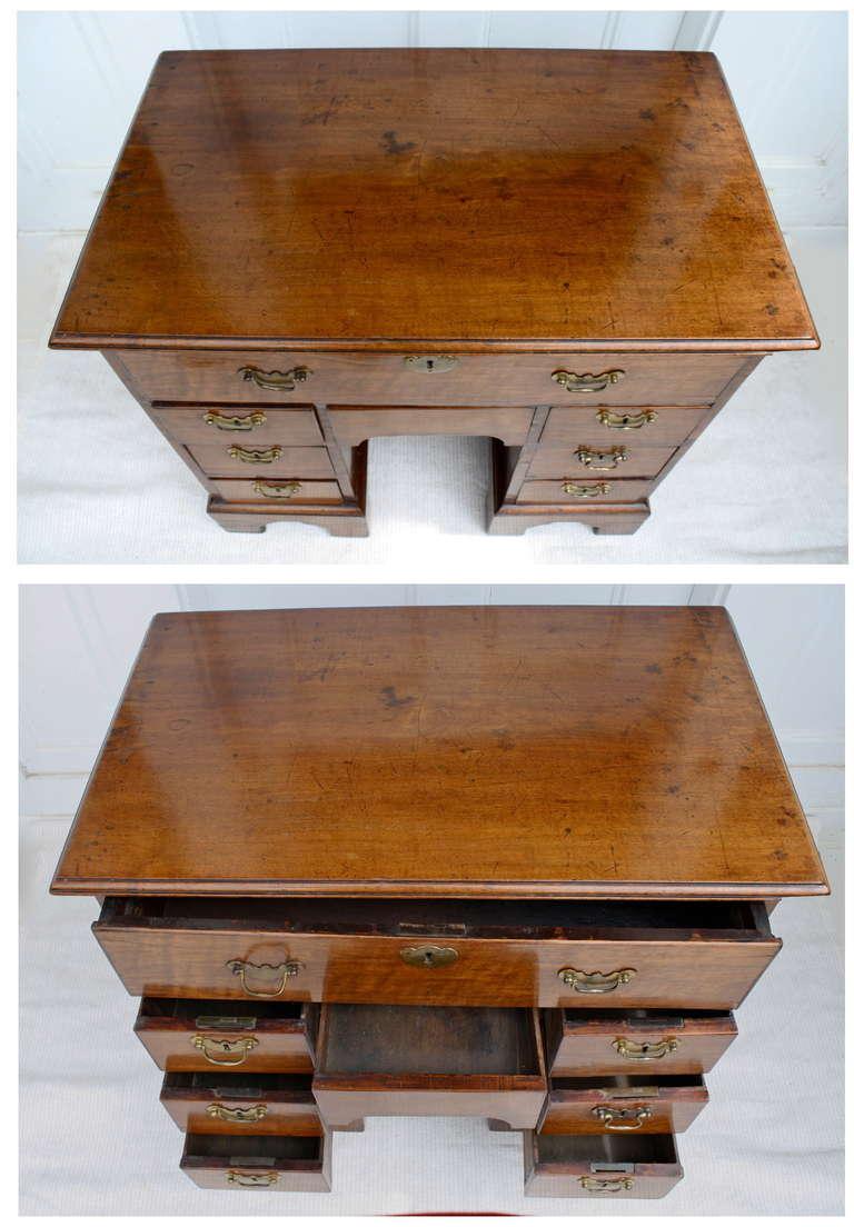 George II Walnut Kneehole Desk 8
