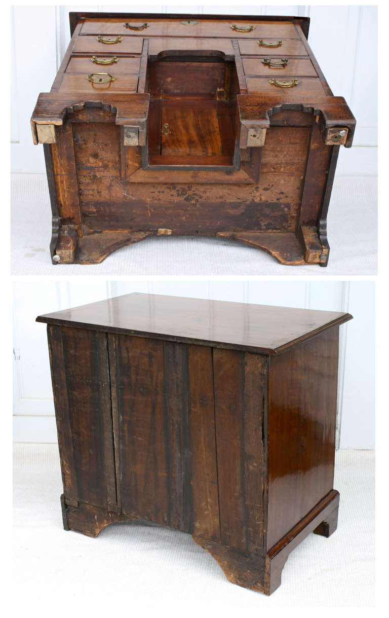 George II Walnut Kneehole Desk 10