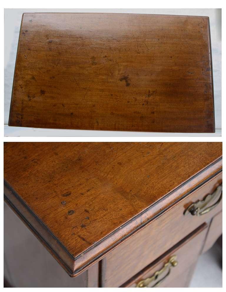 George II Walnut Kneehole Desk 7