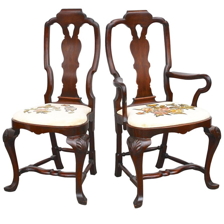 FOURTEEN American Queen Anne Revival Dining Chairs For Sale