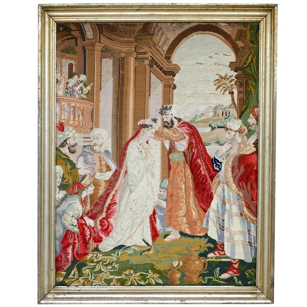 Ottoman Coronation Needlepoint Tapestry For Sale