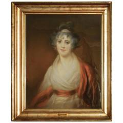 Pastel Portrait of Lord Byron's Half-Sister by John Berridge