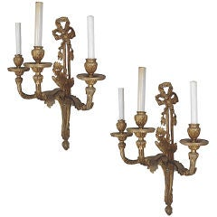 Pair of Rococo Revival 'House of Bourbon' Sconces