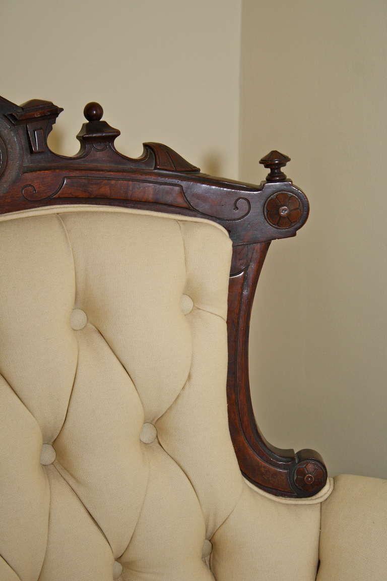 Rococo Revival John Jelliff Armchair For Sale 1