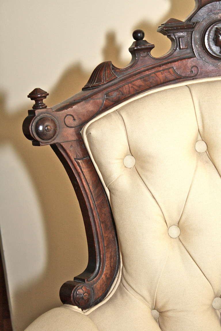 19th Century Rococo Revival John Jelliff Armchair For Sale