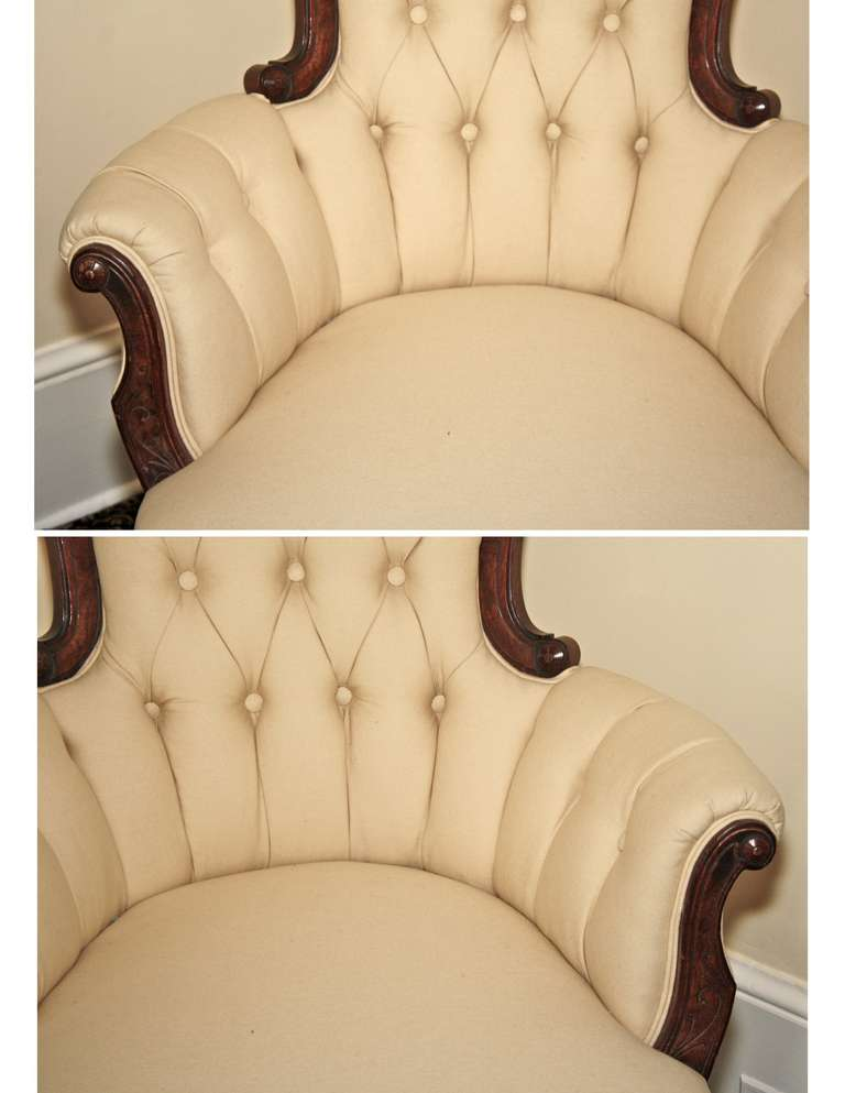 Rococo Revival John Jelliff Armchair For Sale 2