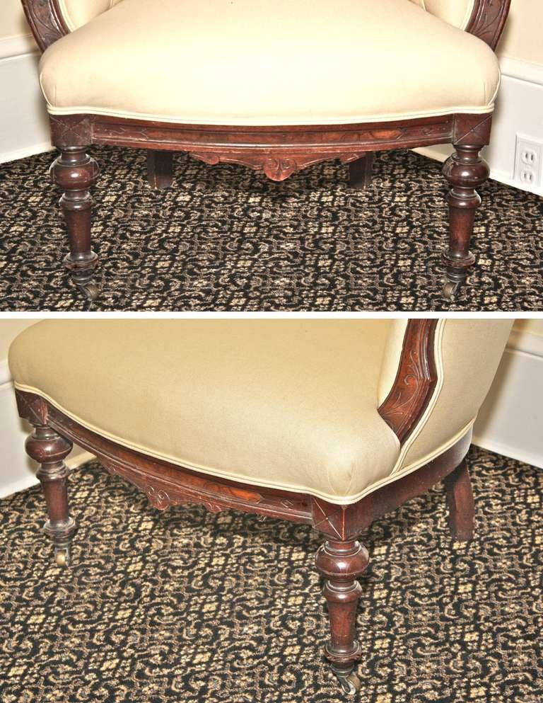 Rococo Revival John Jelliff Armchair For Sale 3