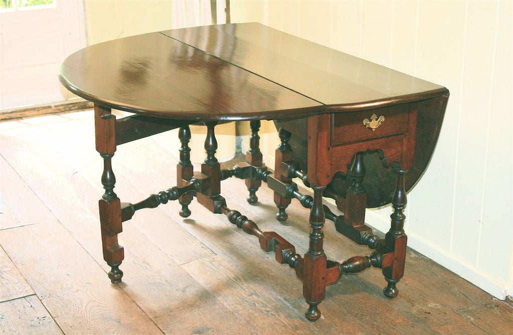 william and mary oval drop leaf gate leg dining table at 1stdibs