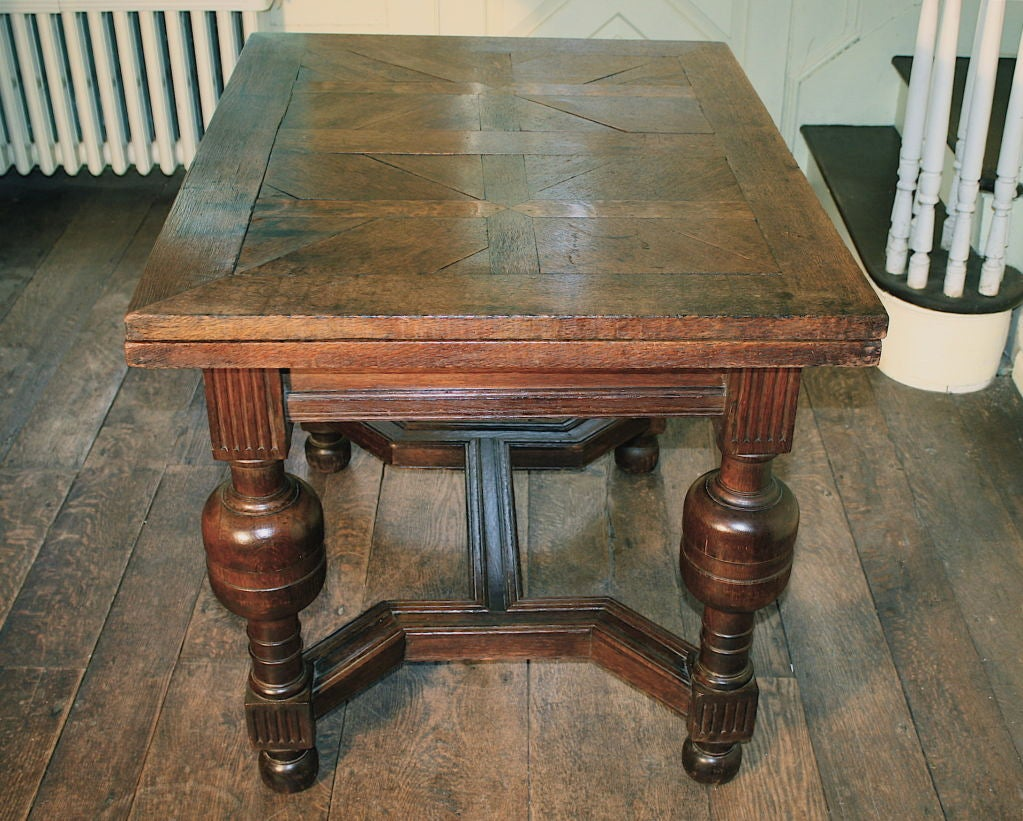 English Oak Draw Leaf Table Style Of James I At 1stdibs