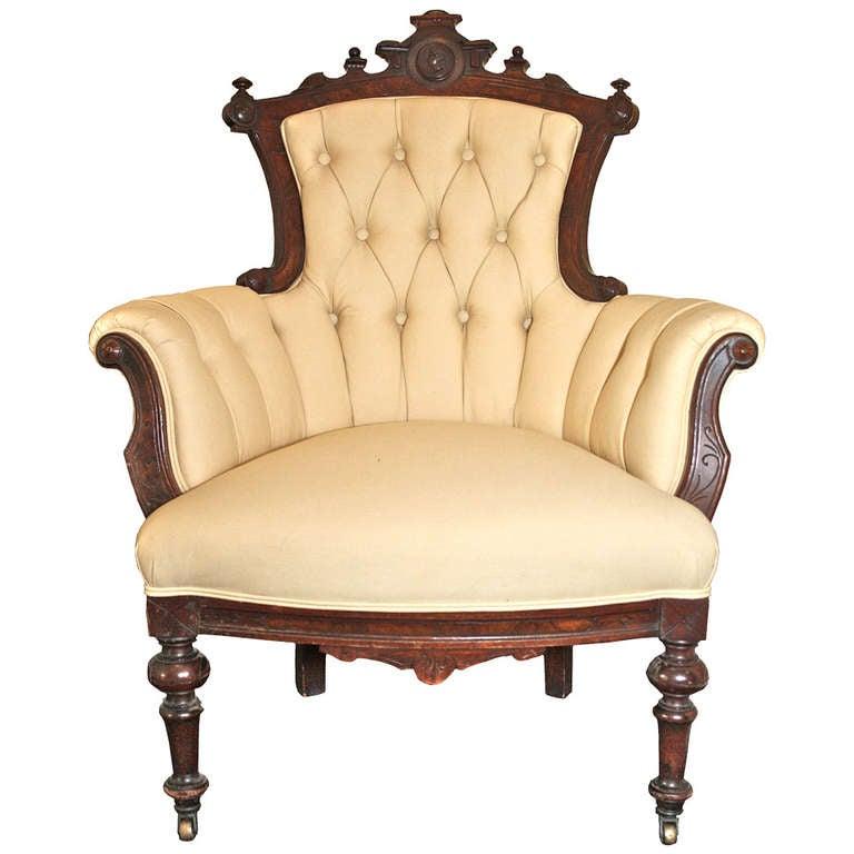 Rococo Revival John Jelliff Armchair