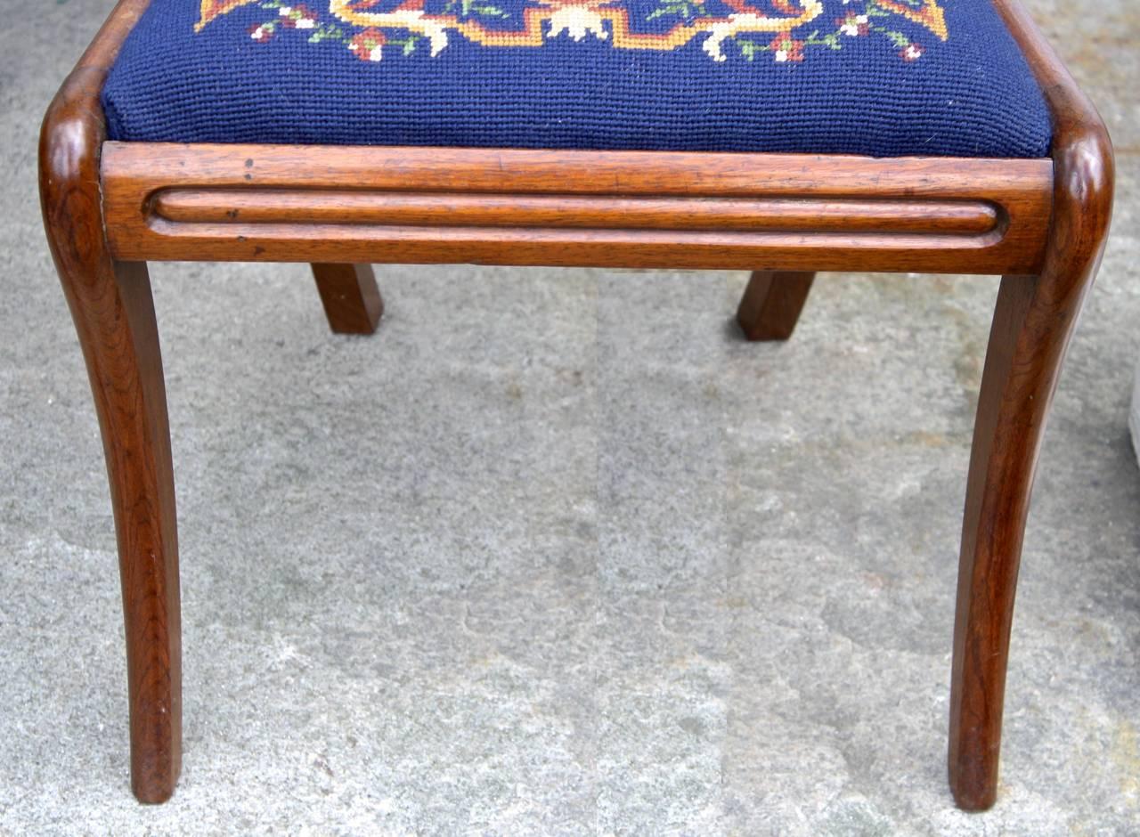 Padouk SIX Philadelphia Klismos Dining Chairs For Sale