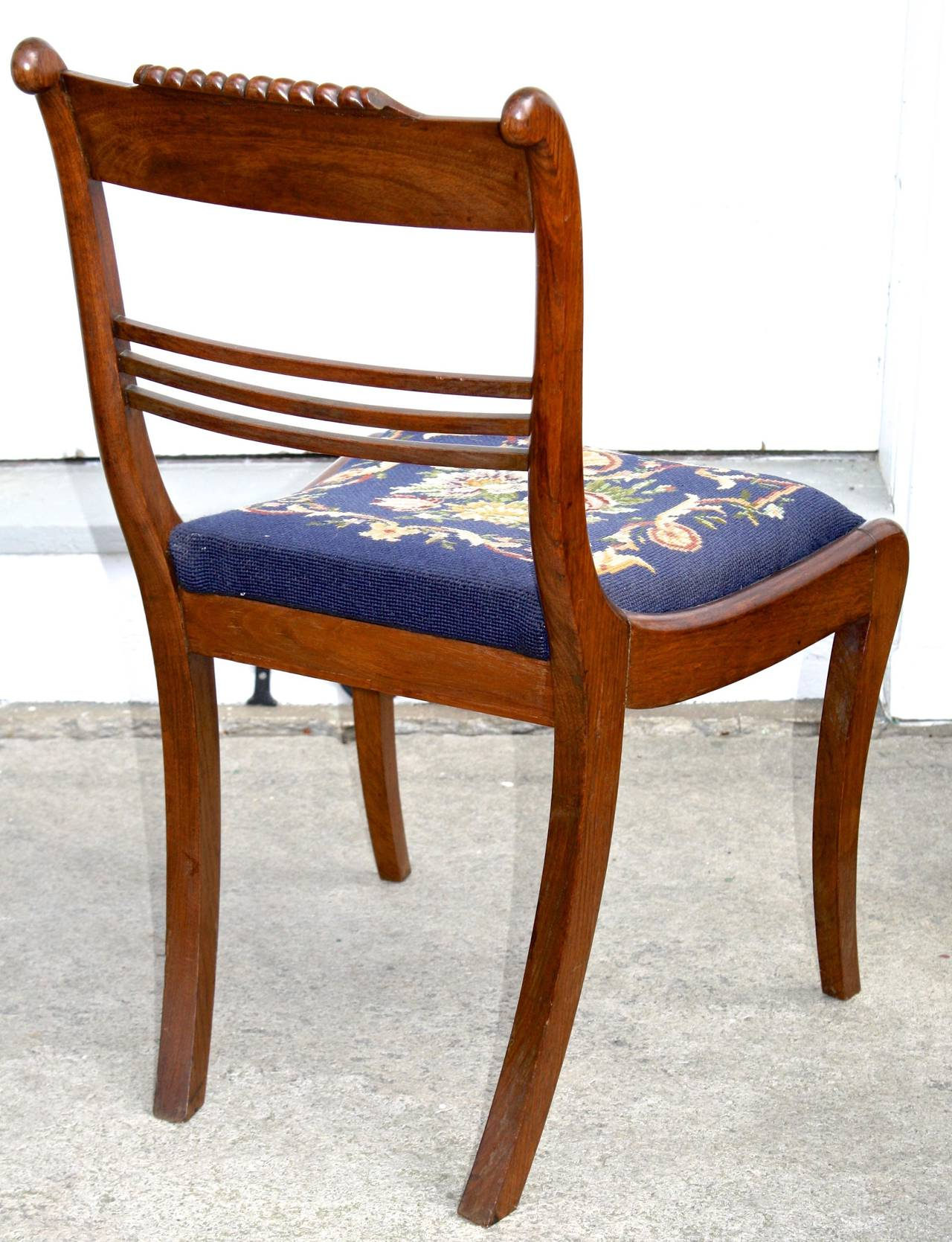 SIX Philadelphia Klismos Dining Chairs For Sale 1