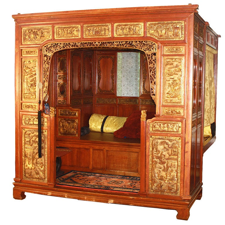 Antique Bed: Chinese Lo-han Chamber Bed At 1stdibs
