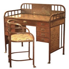 Art Nouveau 'Secessionist' Desk and Chair by Josef Hoffmann