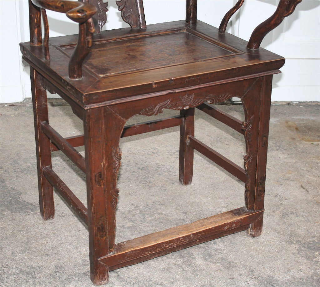 Pair of Chinese Guanmaoyi Chairs For Sale 5