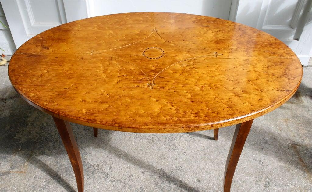 Directoire Birdseye Maple Tea Table At 1stdibs